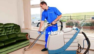 dịch vụ giặt thảm phun hút TKT Carpet