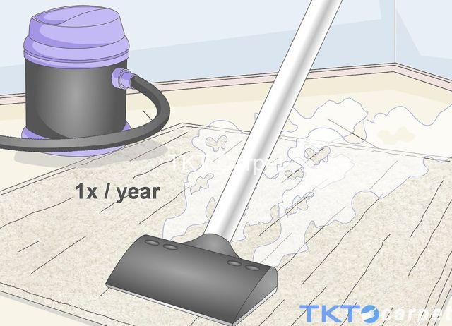 giặt thảm len bằng máy hơi nước nóng 1 năm/lần