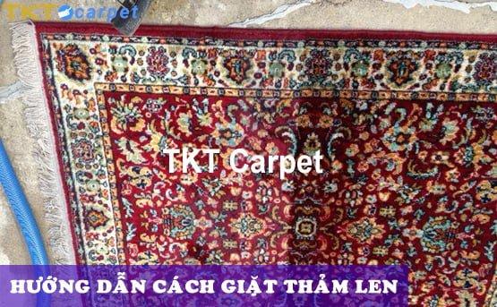 hướng dẫn cách giặt thảm len TKT Carpet