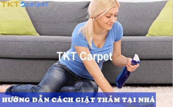 hướng dẫn cách giặt thảm tại nhà của TKT Carpet