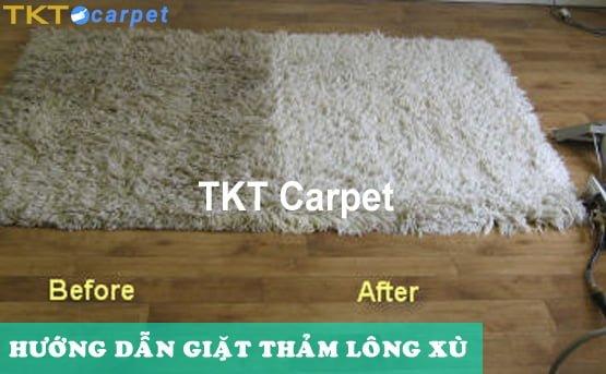hướng dẫn giặt thảm lông xù TKT Carpet