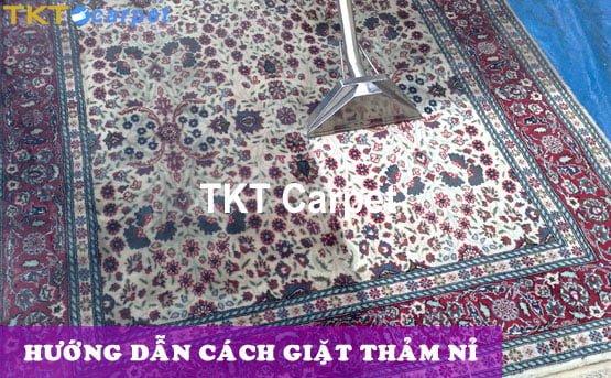 hướng dẫn giặt thảm nỉ TKT Carpet