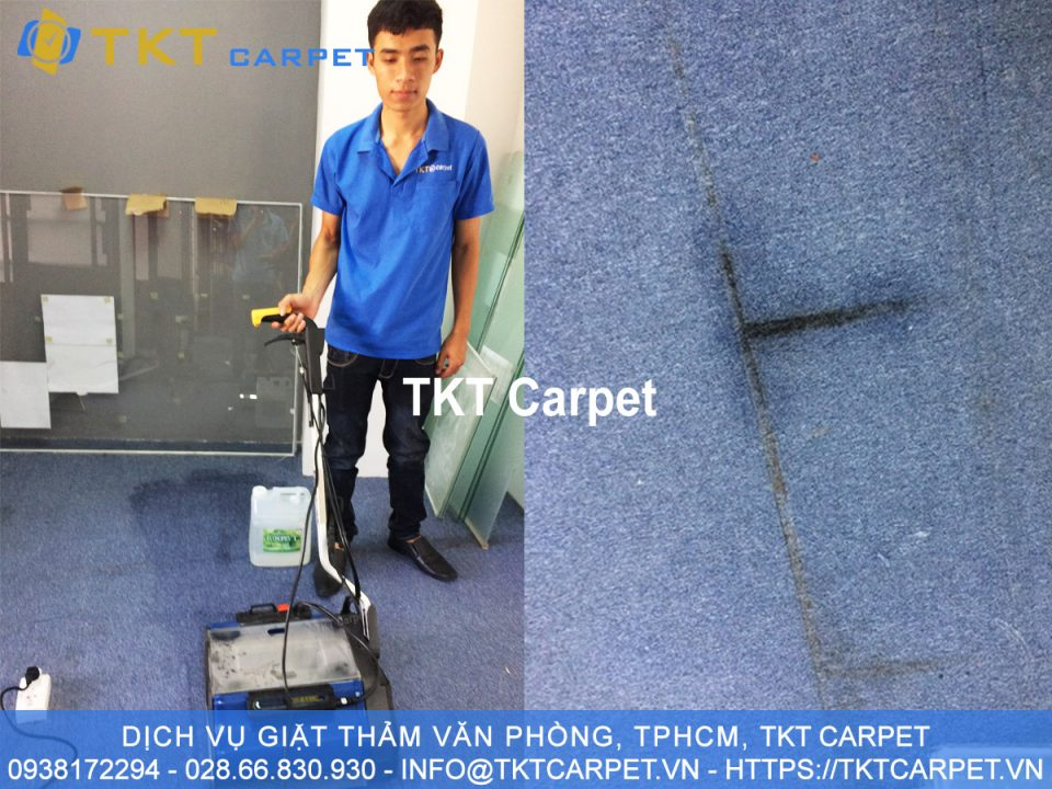 dịch vụ giặt thảm tại Q1 hóa chất sinh học Nhật Bản TKT Carpet