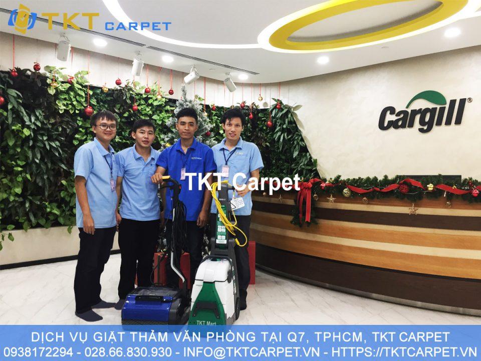 dịch vụ giặt thảm Q7 TPHCM KH Cargill Mỹ TKT Carpet