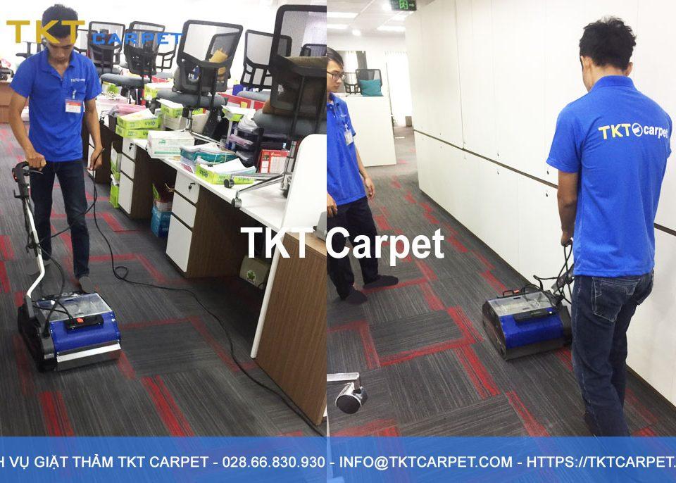 dịch vụ giặt thảm quận Bình Thạnh công nghệ hơi nước nóng tại TPHCM - TKT Carpet