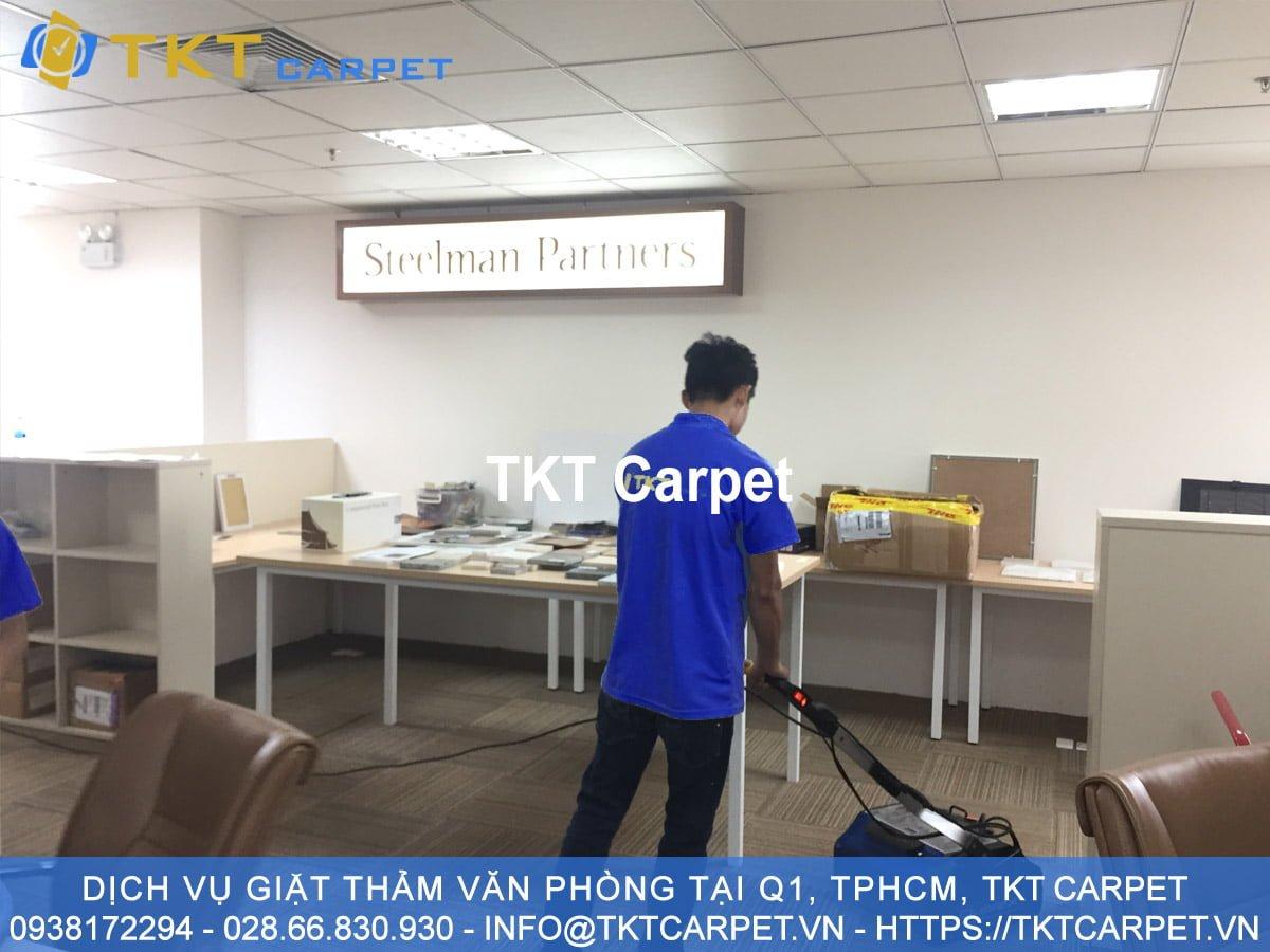 dịch vụ giặt thảm Q1 TPHCM KH Steel Partner TKT Carpet