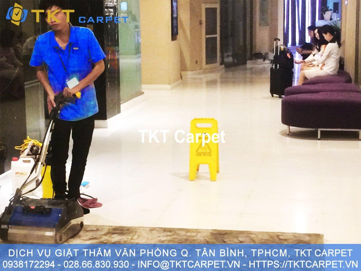 dịch vụ giặt thảm Q Tân Bình TPHCM KH Eastin Grand Hotel TKT Carpet