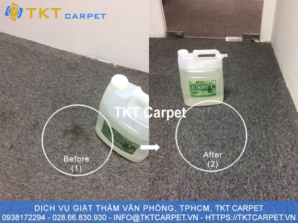 tẩy điểm thảm bị bẩn TKT Carpet