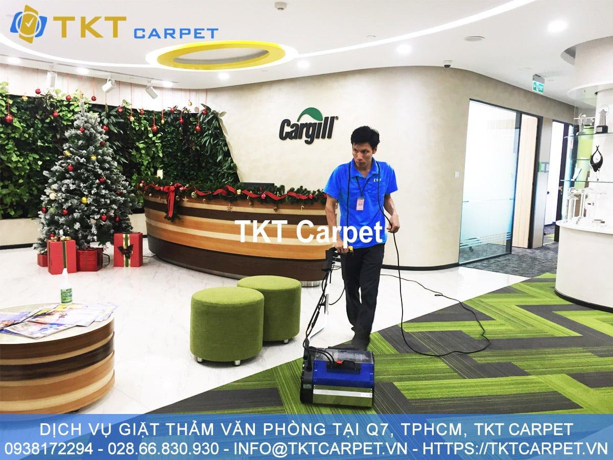 dịch vụ giặt thảm Quận 7 HCM TKT Carpet