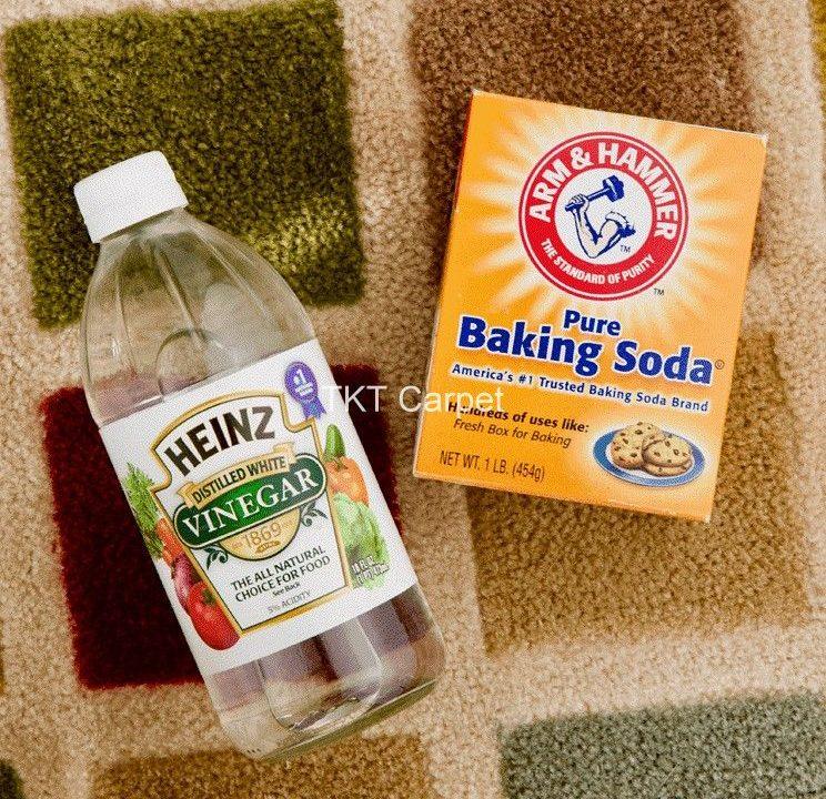 công thức pha hóa chất giặt thảm từ Baking Soda và Dấm Trắng