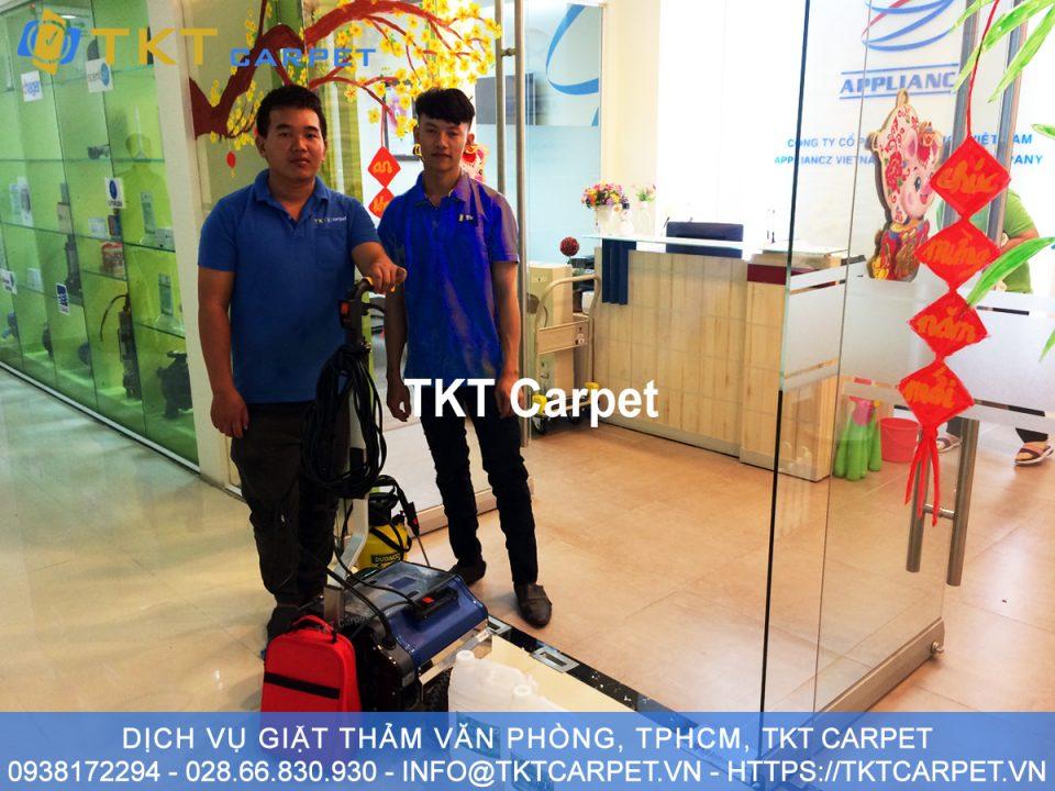 dịch vụ giặt thảm Q7 HCM TKT Carpet