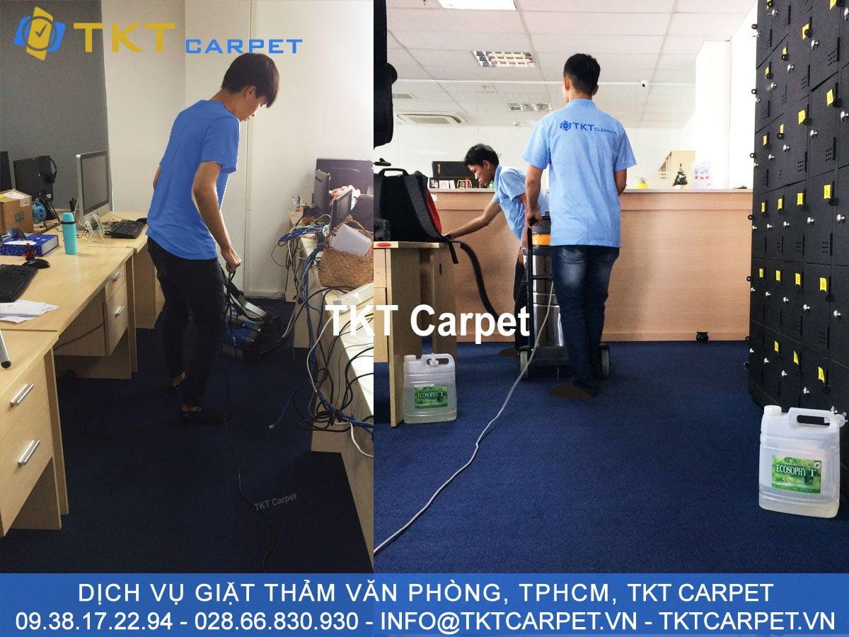 dịch vụ giặt thảm quận Bình Thạnh TPHCM Hơi nước nóng TKT Carpet