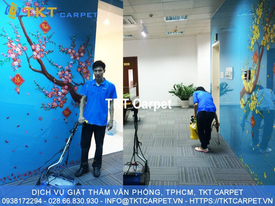 dịch vụ giặt thảm văn phòng Quận 7 TPHCM TKT Carpet Khách hàng Công ty IMV
