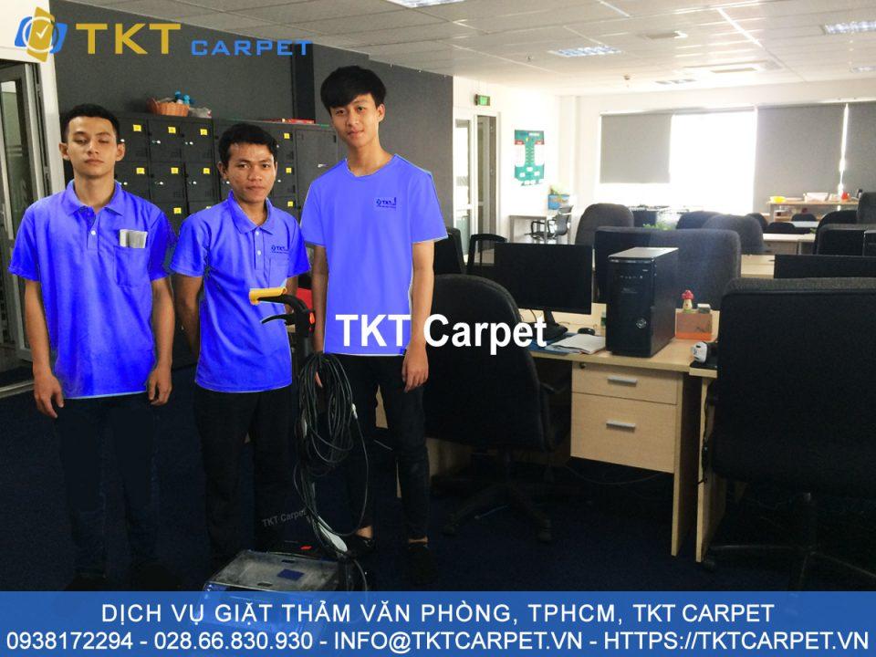 dịch vụ giặt thảm văn phòng quận Bình Thạnh TPHCM TKT Carpet