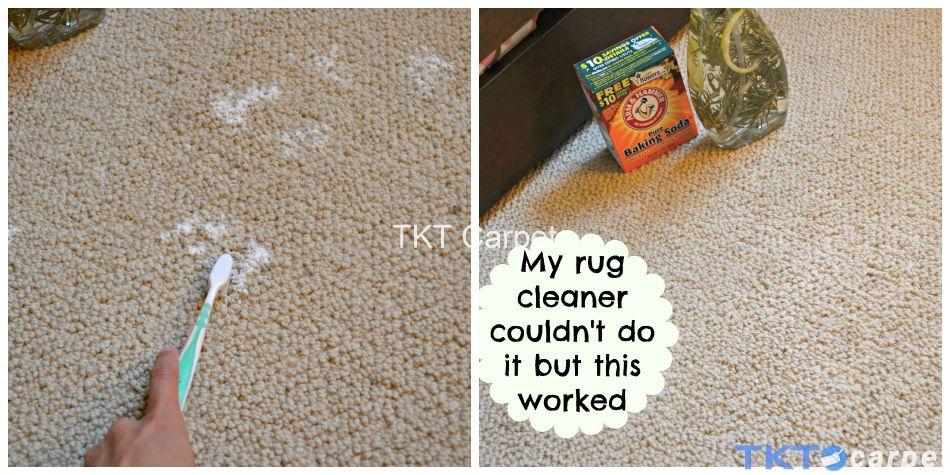 giặt thảm bằng baking soda và bàn chải