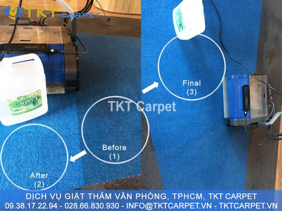 dịch vụ giặt thảm văn phòng hơi nước nóng KH Inspectorio Q2 tphcm