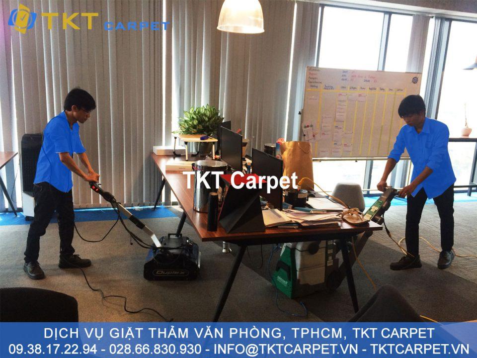dịch vụ giặt thảm văn phòng kh inspectorio Q2 TPHCM