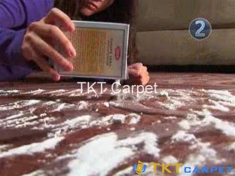khử mùi trên tấm thảm trải sàn