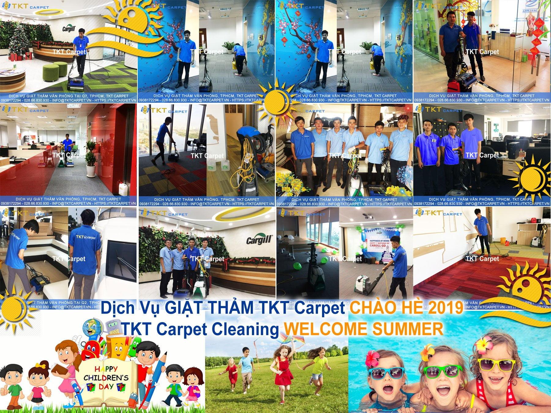 Khuyến mãi dịch vụ giặt thảm văn phòng TKT Carpet mừng ngày 1/6 và hè 2019