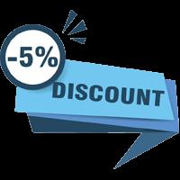 giảm giá giặt thảm 5%
