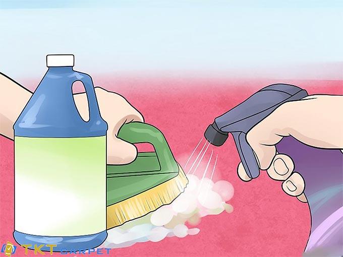 Giặt thảm bằng nước lau kính và bàn ủi