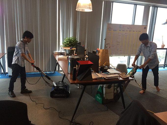 giặt thảm văn phòng công ty inspec