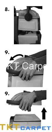 hướng dẫn sử dụng máy giặt thảm văn phòng bước 8-10