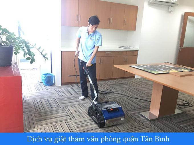 giặt thảm văn phòng quận Tân Bình