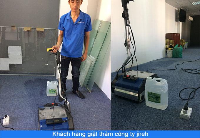 khách hàng giặt thảm công ty jireh