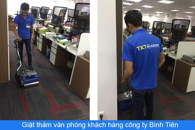 khách hàng giặt thảm công ty Bình Tiên