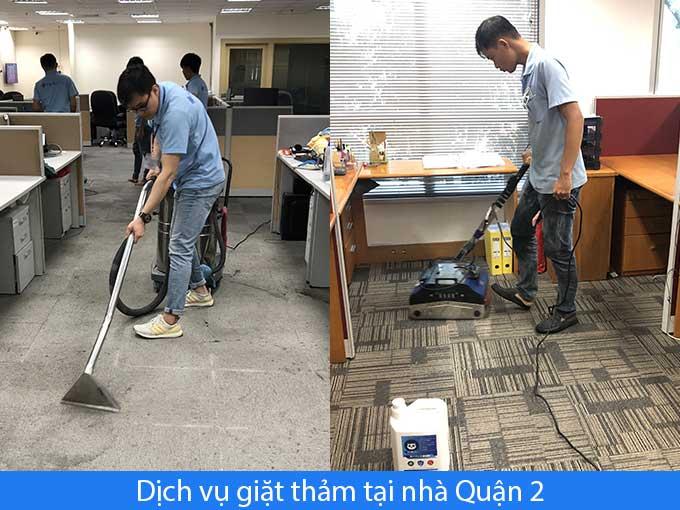 Dịch vụ giặt thảm tại nhà quận 2