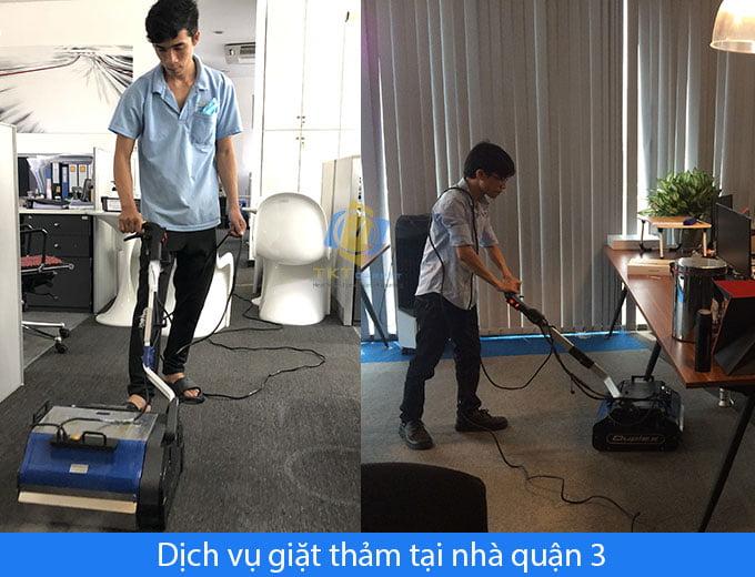 Dịch vụ giặt thảm tại nhà quận 3