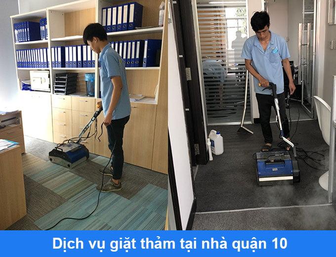 dịch vụ giặt thảm tại nhà quận 10