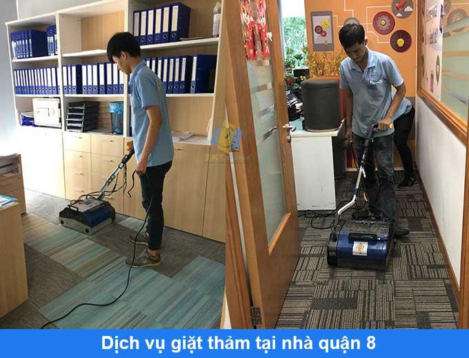 dịch vụ giặt thảm tại nhà quận 8