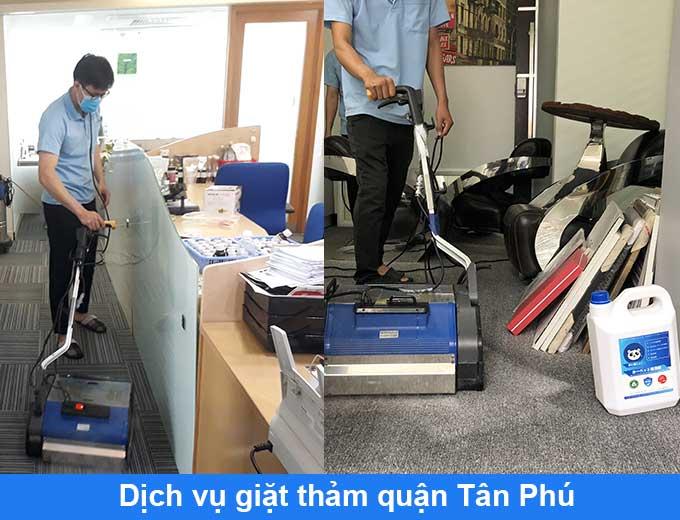 dịch vụ giặt thảm tại nhà quận Tân Phú