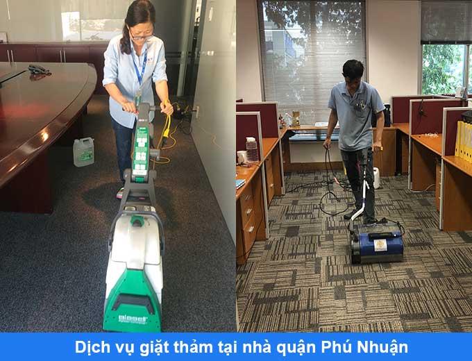 dịch vụ giặt thảm tại nhà quận Phú Nhuận