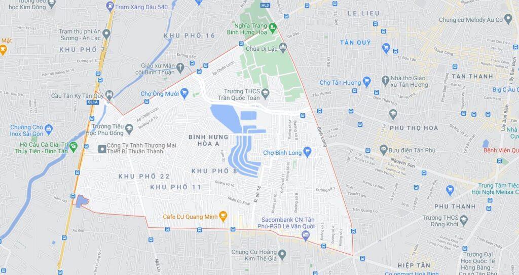 Phường Bình Hưng Hòa A quận Bình Tân