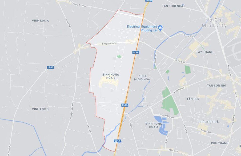 Phường Bình Hưng Hòa B quận Bình Tân