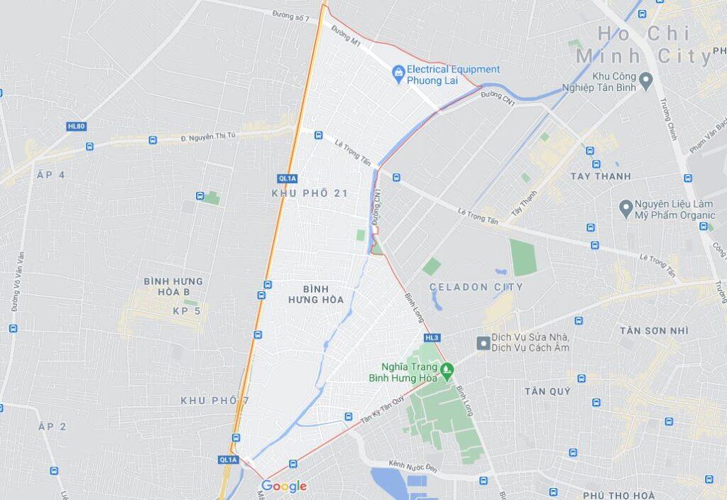 Phường Bình Hưng Hòa quận Bình Tân