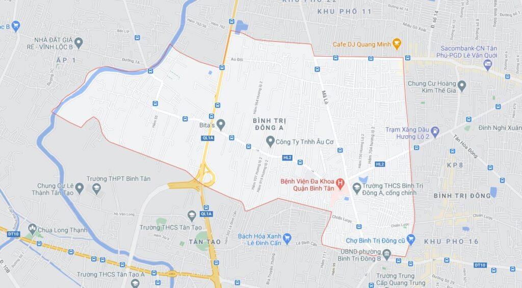 Phường Bình Trị Đông A quận Bình Tân