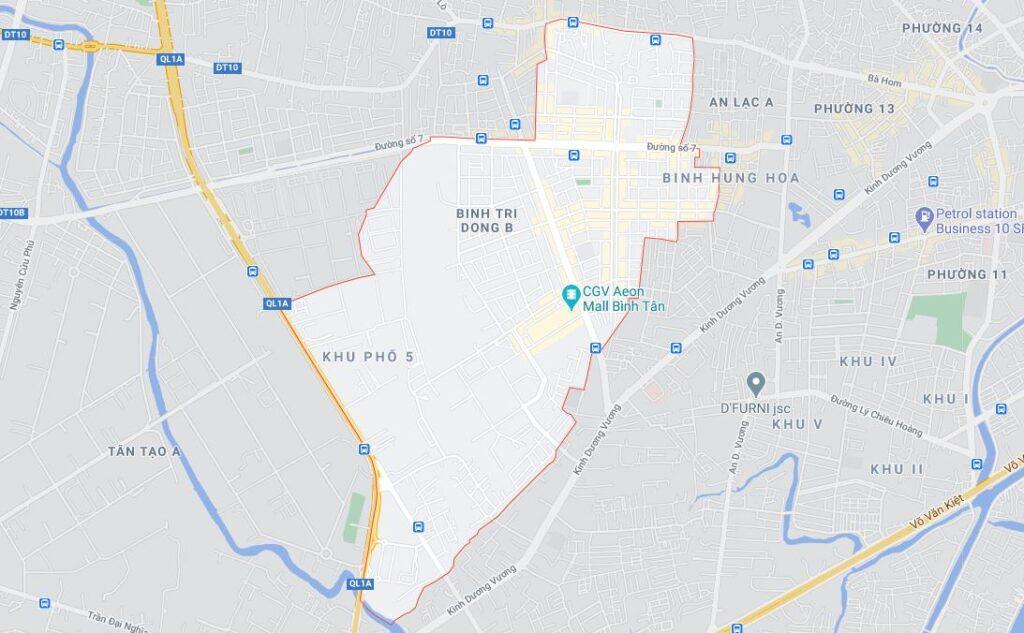 Phường Bình Trị Đông B quận Bình Tân