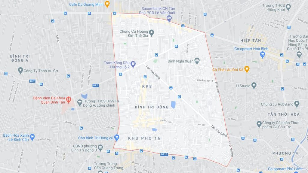 Phường Bình Trị Đông quận Bình Tân