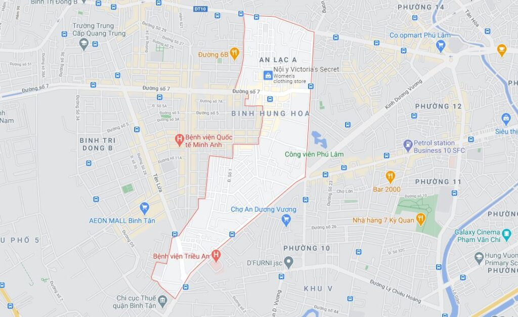 Phường An Lạc A quận Bình Tân
