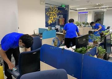 dịch vụ vệ sinh ghế văn phòng