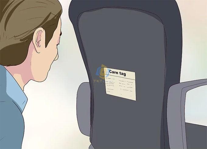 kiểm tra ký hiệu trên ghế